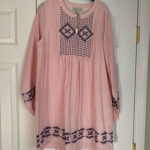Hayden Pink & White embroidered dress-size Large